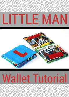 Little Man Wallet Tutorial - chaosandlove.com I like the idea, but I feel like it needs a zipper or something.