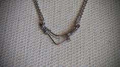 Midcentury Modern Vintage Patina Abstract Bronze Necklace