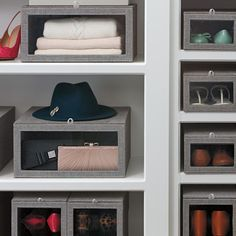 On the 5th day of Christmas I made up my mind that I would go into the New Year better organized and the best place to start was my closet! After all, I had to find a place for my new gifts I was fortunate to receive. This closet starter kit was it!! I found it at The Container Store for $218.72 and it includes: (1) Case of Platinum Huggable Hangers (each case includes 20 shirt hangers and 20 suit hangers), (1) Case of Our Shoe Boxes (each case includes Shoe Boxes),