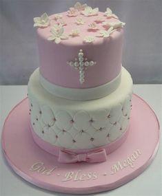 For Evie - Holy Communion cake Christening Cake Girls, Christening Cakes, Comunion Cakes, Theme Bapteme, First Holy Communion Cake, Religious Cakes, Confirmation Cakes, Pear Cake, Girl Cakes