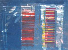 Category: Various on Paul Furneaux: printmaking artist Japanese Watercolor, Gelli Plate Printing, Paintings I Love, City Lights, Artist At Work, Wood Print, Making Ideas, Vivid Colors, Printmaking