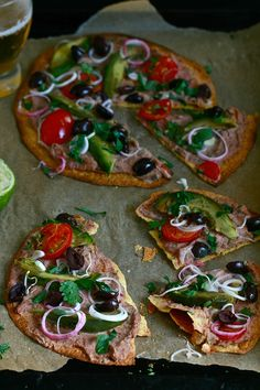 Chipotle-Lime Two Bean Hummus Tortilla Pizza
