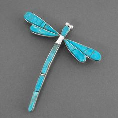 turquoise dragonfly pin