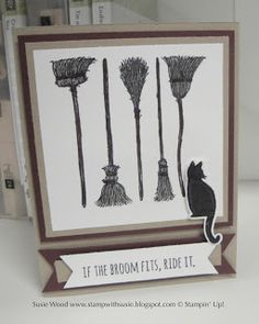 Stampin' Up!- Witches brooms and a black cat!  A new Holiday Catalog sneak peek!