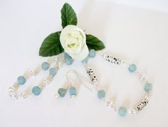 Wire Wrapped  Necklace  Amazonite and Bali Silver by simplysuzie2, $35.00