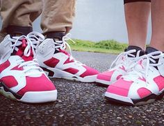 Air Jordan 6 Carmine x Air Jordan 6 Coral Rose - Sneakerheaduk