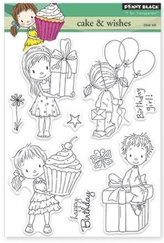 Penny Black - Clear Stamp - Cake and Wishes,$15.99