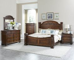 Shop Home Elegance Donata Falls Master Bedroom Set with great price, The Classy Home Furniture has the best selection of Master Bedrooms to choose from Interior Design Living Room, Traditional Bedroom, Bedroom Furniture Sets, Living Room Sets, Fall Bedroom, Furniture, Classy Bedroom, Youth Bedroom, Bedroom Posters