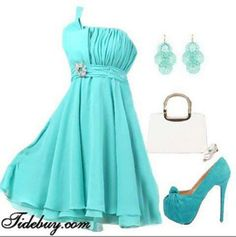 Tiffany blue dress and accessories Tiffany Blue Bridesmaid Dresses, Tiffany Blue Dress, Tiffany Blue Weddings, Bridesmaid Outfit, Dama Dresses, Prom Dresses, Formal Dresses, Wedding Dresses, Mint
