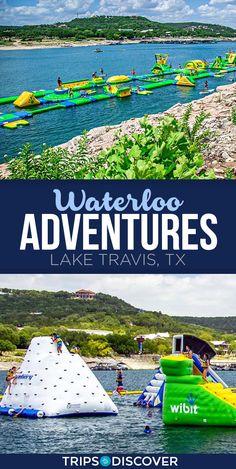 Lake Travis Waterloo Adventures is a Unique Water Park in Texas Texas Vacations, Vacation Places, Dream Vacations, Vacation Spots, Places To Travel, Texas Travel, Travel Usa, Water Parks In Texas, Lake Travis Austin