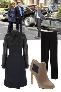 """Kate Beckett on Elle's Fall TV's 10 Leading Ladies with the Best Prime-Time Style list """"Along with having stellar mystery-solving skills, Detective Kate Beckett owns the best coat collection in the NYPD, if not all of New York City. And despite always wearing really high heels, she always seems to catch the perpetrator in a chase down some dark alleyway."""""""