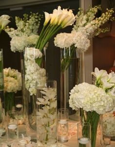 modern white place card table by spruce floral, Boston