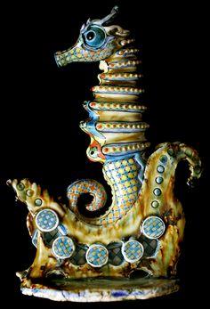 Sea horse - David Burnham Smith - Master Ceramic Artist