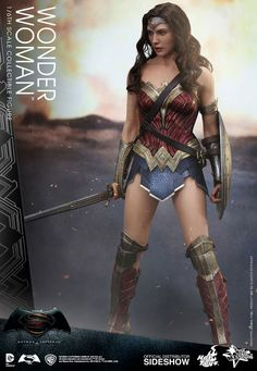 Wonder Woman Dawn of Justice figure. Perfect likeness of Gal Gadot from Batman v Superman. Get this Hot Toys Wonder Woman figure before they sell out.