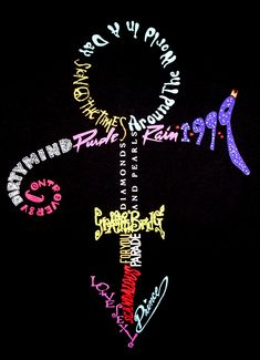 This signifies this Pinterest board's theme! Taken from one of Prince's Nude Tour T-Shirts.