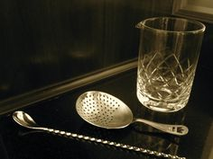 Yarai Mixing Glass, Cocktail Kingdom Julep Strainer and a beautiful japanese bar spoon. A perfect setup for stirring and serving those classic cocktails.