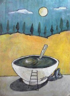 """The bowl"" Wander, Whimsical, Workshop, Painting, Art, Atelier, Painting Art, Paintings, Kunst"