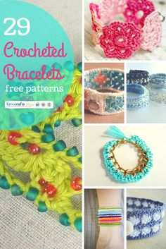 29 Crocheted Bracelets