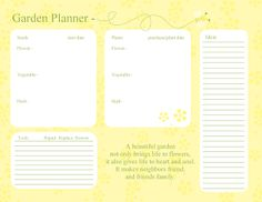 Bee and Flowers garden planning page.