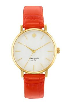 kate spade new york 'metro' embossed leather strap watch, 34mm available at #Nordstrom