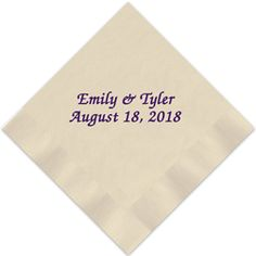 Complete your tablescape with elegant personalized napkins. Belmont Foil-Pressed Napkins feature an elegant script typeface in your choice of ink and paper colors. Create yours today at http://www.giftsin24.com/Belmont-Foil-Pressed-Napkin #napkins #party #personalized #wedding #madeinAmerica Free FedEx ground shipping. Ships in 24 hours.