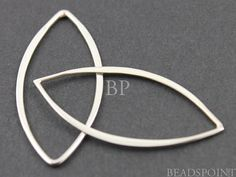 Sterling Silver Small Open Long Flattened Marquis by Beadspoint, $2.99