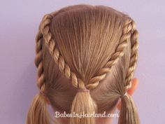 Letter M Hairstyle - http://babesinhairland.com/hairstyles/abc-hairstyles/letter-m-hairstyle/