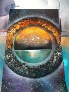 Spray paint art by Nate Bockus