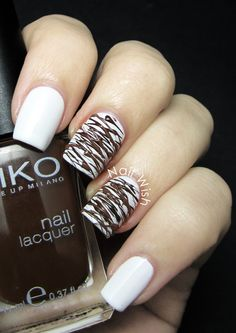 Nail Wish: Seven Deadly Sins Challenge Day 3: Gluttony (melted chocolate nail art / drizzled chocolate)