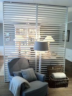 "this diy room divider is awesome!"" for the basement/craft room"