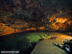 photo inside the underground cave at bantayan nature park & resort, bantayan island cebu philippines