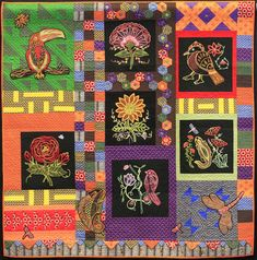African Folklore Flora and Fauna by Catherine Redford.  Designs by Leora Raikin.  NQA 2013 Quilt Show Winner