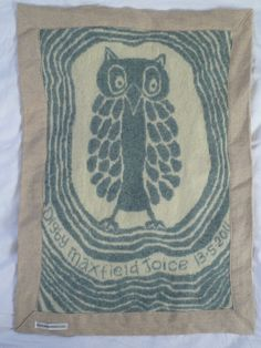 Gorgeous owl personalised Baby blanket/wall hanging. Ompompom on Etsy.