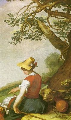 Abraham Bloemaert  Shepherd and Shepherdess (detail)  1627