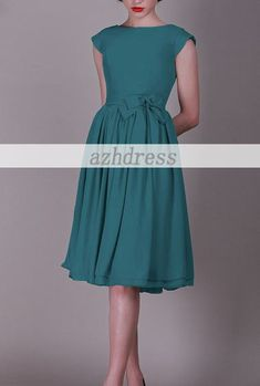I think I'm going to order this one in gray tonight... Vintage Bridesmaid Dress/Prom Dress Aline Cap Sleeves by azhdress, $89.00
