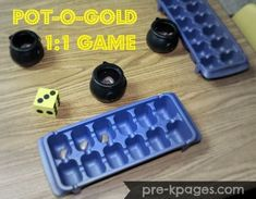 Pot of Gold Lima Bean One to One Game for Preschool and Kindergarten via http://www.pre-kpages.com
