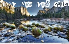 Awesome Happy new year 2014 landscape