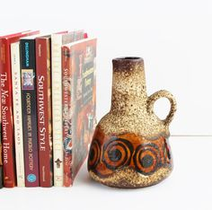 Dumler & Breiden West German Fat Lava Pottery Vase by TheBlueRam