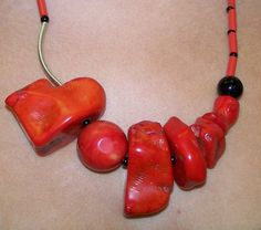 Red Coral Necklace Dalia Koss
