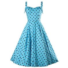 Womens 50S Rockabilly Swing Pinup Housewife Retro Party Evening Cocktail Dress (L, Sky Blue)