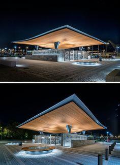 建築公司Tengbom,有專為赫爾辛堡中央車站,火車站在瑞典的新入口。
