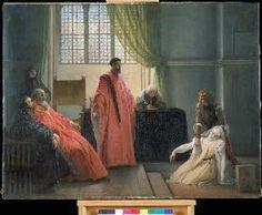 Francesco Hayez - Valenza Gradenico vor der Hl. Inquisition.