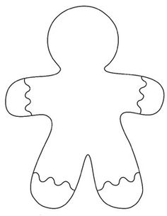 gingerbread man template printable this will be so intriguing get rh pinterest co uk