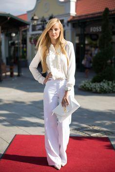 Pure White Outfit für unser Late Night Shopping Event #Parndorftrip #DesignerOutletParndorf