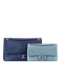 Large quilted lambskin flap bag - CHANEL