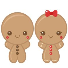 Gingerbread Boy and Girl SVG