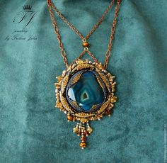 """Pendant/pendant """"Midnight flower"""" – shop online on Livemaster with shipping - 67Z2XCOM"""