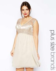 Love the Little Mistress Plus Little Mistress V Neck Lace Bodice With Skater Skirt on Wantering.