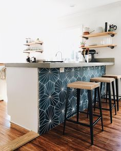 Oak and steel Dunlin counter stool via @sproutedkitchen