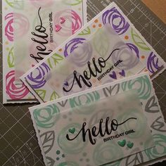 EBE Bold Blooms; repeat stamping; card set; stationary; MISTI; vellum; bright; floral; birthday; hello; any occasion; pink; purple; lavender; aqua; grey;